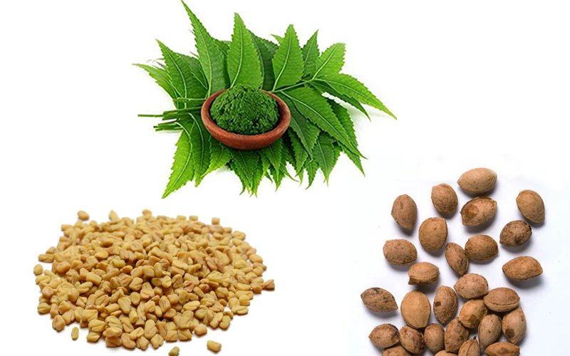 A mix of Neem, Plum Seed, and Fenugreek