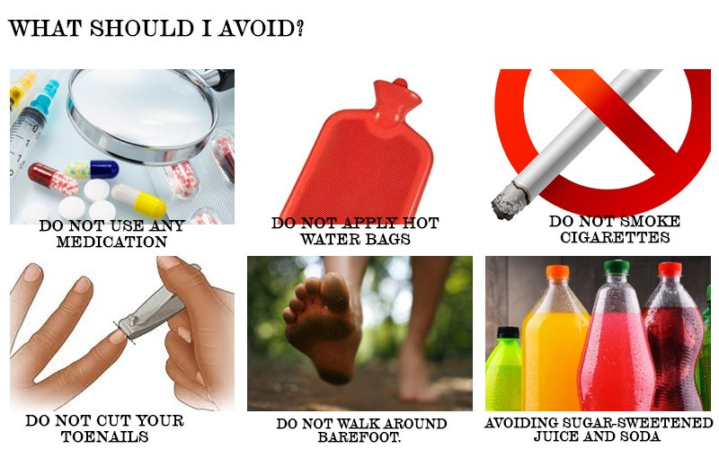 Do's and Don'ts for Diabetes Wound Care - What should I avoid?