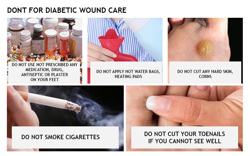 DONT'S FOR A DIABETIC WOUND CARE!!