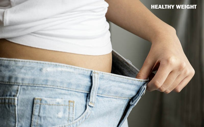 Maintaining a healthy weight for blood pressure